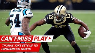 Michael Thomas' Sick Juke Leads to Drew Brees' Huge TD Pass! | Can't-Miss Play | NFL Wild Card HLs