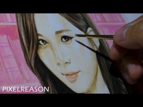 MOST AMAZING PAINTING OF SEOHYUN - SNSD (소녀시대) Girls Generation