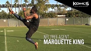 Marquette King   Free Agent   2019 Kohl's Kicking Winter Workout