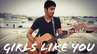 Girls Like You | Maroon 5 | Brijesh Sarin | One Minute One Take | One Minute Cover Series