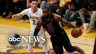 LeBron James announces 4-year deal with LA Lakers