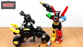 Dũng sĩ Hesman và Siêu nhân gao đen cưỡi xe trâu đồ chơi trẻ em power rangers gaoranger vs Voltro