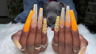 Acrylic Nails Fill   XX-Long Nails  Acrylic Nails Tutorial