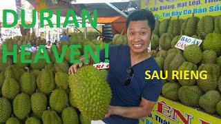 DURIAN Heaven Sau Rieng Stinky Fruit Saigon Vietnam 2016