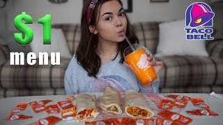 TacoBell $1 MENU REVIEW!!