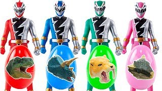 New power rangers surprise egg toys review リュウソウジャーおもちゃ 戦隊ヒーローすぽすぽ変形