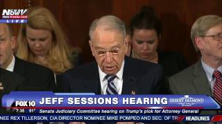 LIVE: Confirmation Hearing of Trump Attorney General Nominee Jeff Sessions - Cory Booker to Testify