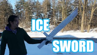 ICE SWORD! (Made With Pykrete)   Sufficiently Advanced