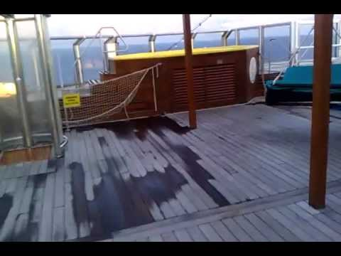Carnival Freedom Serenity Deck 2nd Level Video Youtube
