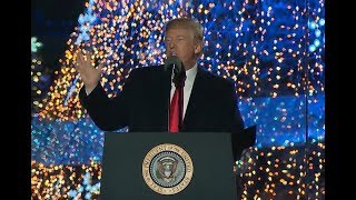 MUST WATCH: President Donald Trump gives AMAZING Speech after Lighting the National Christmas Tree