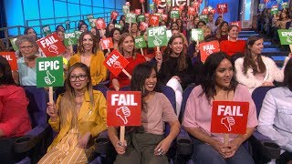 Ellen's Audience Plays 'Epic or Fail'