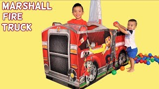 PAW Patrol Kids Pretend Play Marshall Fire Truck  Fun Playtime With Ckn Toys