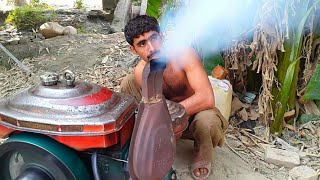 Starting The Diesel Engine   Tubewell System   Agriculture In Pakistan