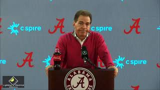 Nick Saban talks 2020 Iron Bowl, Bo Nix & preparing for Auburn