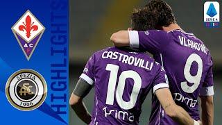 Fiorentina 3-0 Spezia   Fiorentina take all 3 points in their tie against Spezia   Serie A TIM