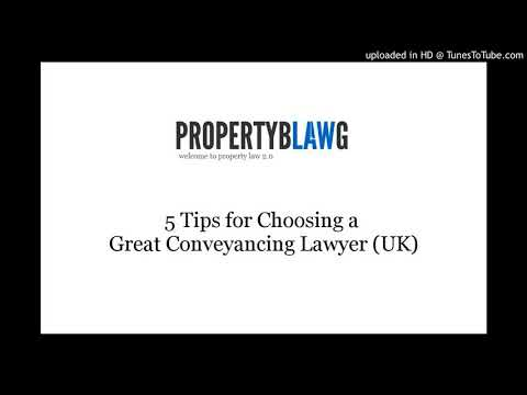 5 tips to help you find the best conveyancing solicitor for you (UK)