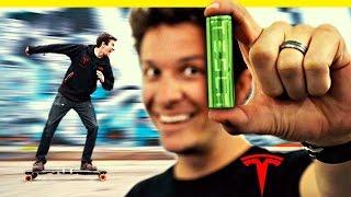 Tesla Batteries in an Electric Skateboard!