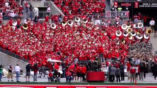 Ohio State Marching Band Stand Tunes Alumni Band playing & End Zone Celebrations 9 13 2014
