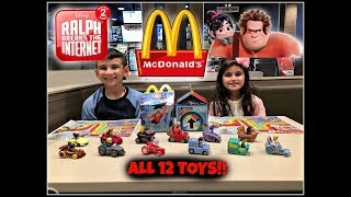 RALPH BREAKS THE INTERNET Movie MCDONALDS Happy Meal Toys Nov 2018! ALL 12 Toys!