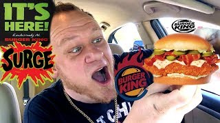 BURGER KING ☆Spicy Crispy Jalapeno Chicken☆ w/SURGE SODA Food Review!!!