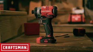 CRAFTSMAN V20* 1/4-in. Cordless Brushless Impact Driver Kit | Tool Overview