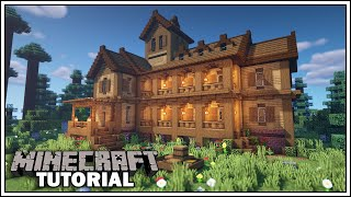 Minecraft Tutorial: How to Build a Large Wooden House
