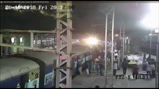 Indian police officer saves man hanging from moving train