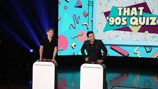 Mario Lopez and Topher Grace Face Off in a '90s Trivia Quiz