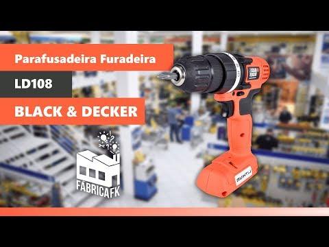 Parafusadeira Furadeira 8V LD108 Black&Decker – Bivolt - Vídeo explicativo