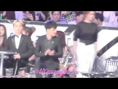 131122 GD BOWS&SEUNGRI SHAKES HANDS with AILEE!