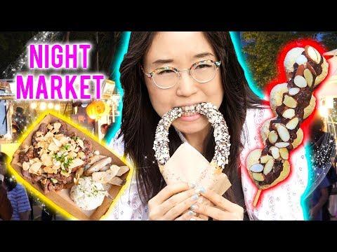 KOREAN NIGHT MARKET ▲ ft Skewered Rice Cakes