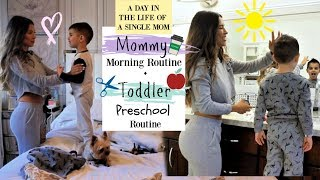 A DAY IN THE LIFE OF A SINGLE MOM |Mommy Morning Routine + Toddler Preschool Routine vlog