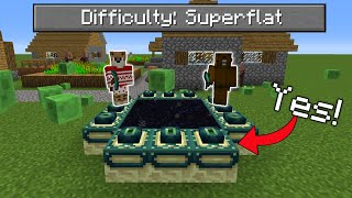 Can You Beat Minecraft in a SUPERFLAT Survival World?