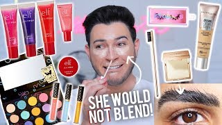 TESTING NEW VIRAL OVER HYPED MAKEUP! Spongebob Collection, ELF Jelly, Maybelline, Etc!