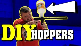 Homemade, DIY Paintball Hoppers   Do It Yourself Gravity Feed Loaders   Lone Wolf Paintball Michigan