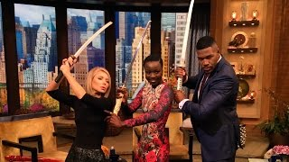 Danai Gurira (The Walking Dead's Michonne) Teaches Kelly and Michael How to Slay a Walker