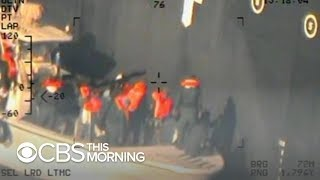 Pentagon releases new photos allegedly showing Iran trying to destroy evidence of tanker attack