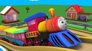 Cartoon Train for Children - Toy Factory Trains - Videos for Kids - Police Cartoon - Toy Train Video