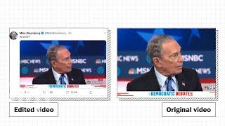 Bloomberg shares edited debate video