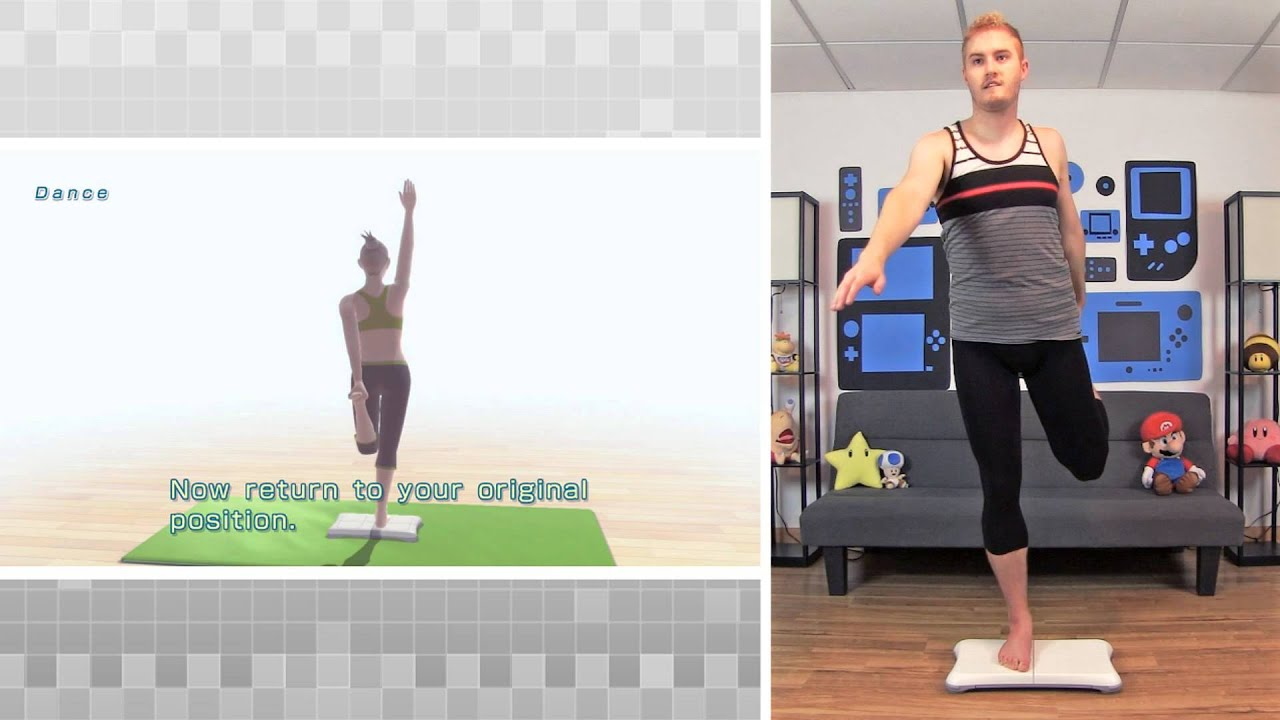 Wii Fit U - Yoga Dance Pose Gameplay - YouTube