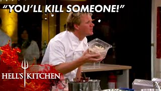 Gordon Stops LETHAL Mistake Over Rancid Crab Meat   Hell's Kitchen