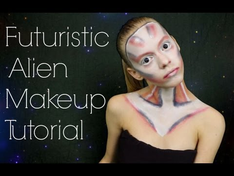 Simple futuristic makeup
