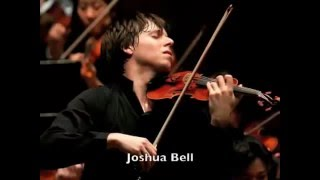 Joshua Bell playing in the subway. Stradivarius violin