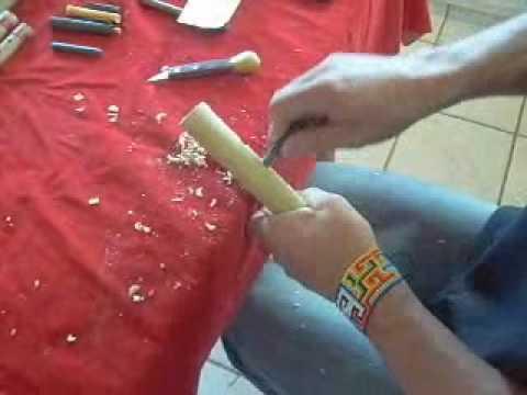 fazendo quena de bambu