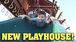 I GOT MONKEY BARS!!! New Playhouse Surprise!