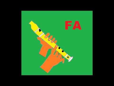 8 notas fáciles para flauta Dulce. Con audio e imágenes explicativas.