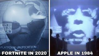 Fortnite 1984 Apple Parody Video & Original Apple Trailer