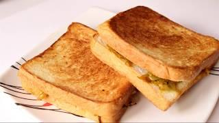 Easy daily bread sandwich on tawa ब्रेड सैन्डविच//Quick Sandwich Recipe, Veg Tawa Sandwich Recipe