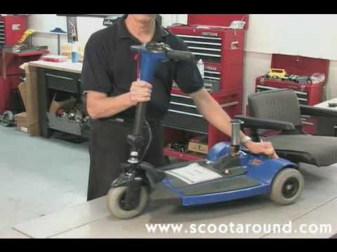 How to Disassemble a Pride Sonic Scooter for Transport