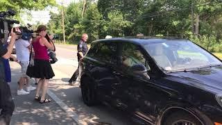Robert Kraft leaves Weymouth Police Station